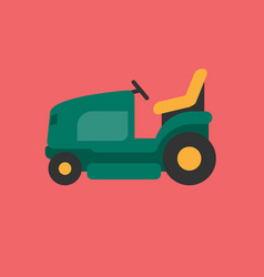 lawnmower car icon set of great flat icons for vector image