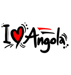Love angola vector