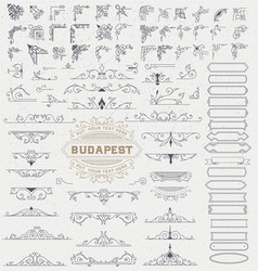Mega kit of vintage elements for invitations vector