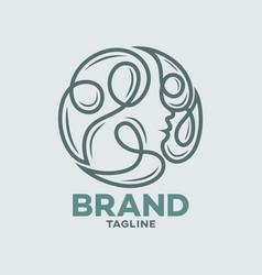 Modern natural beauty logo vector
