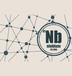 niobium chemical element vector image