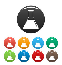 petrol flask icons set color vector image