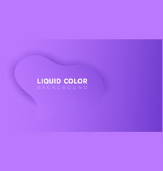 plastic liquid waves banner template vector image