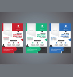 professional business or corporate flyer template vector image