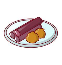 Propolis on plate icon cartoon style vector