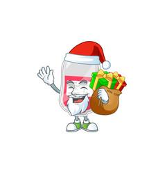 Santa bag blood cartoon design with sacks gifts vector