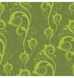 Seamless design with green plants vector
