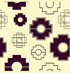 Seamless pattern with inca cross chakana vector