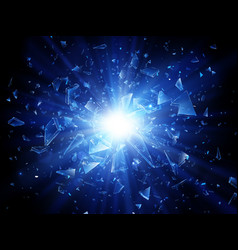 Shards broken glass abstract explosion vector