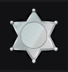 sheriff badge star classic symbol vector image