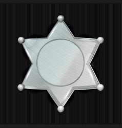 Sheriff badge star classic symbol vector