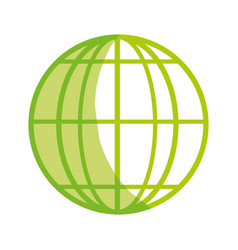 Silhouette global earth planet to geography vector