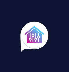 smart house control app icon vector image