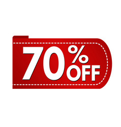 special offer 70 off banner design vector image