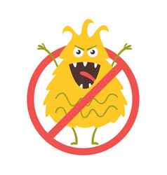 stop bacteria sign vector image