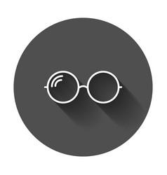sunglasse icon eyewear flat with long shadow vector image