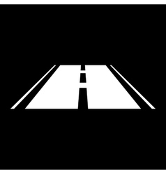The road icon Highway symbol Flat vector image