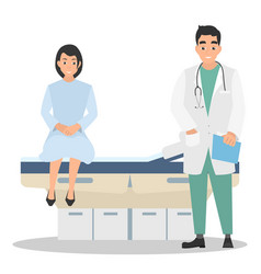 the woman on reception at the doctor vector image