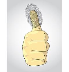Thumb up vector image
