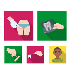Tooth x-ray instrument dentist and other web vector
