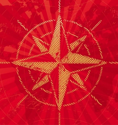 Travel background with compass rose vector