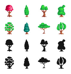 Tree and nature icon set vector