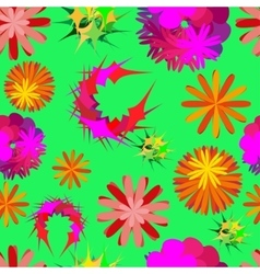 unusual flowers vector image