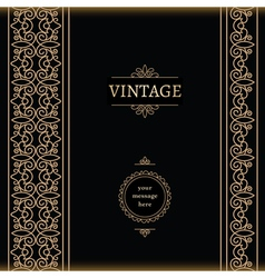 Vintage gold backgroud vector image