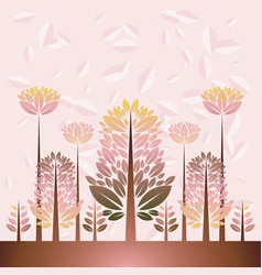 with trees vector image