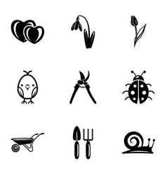 Working field icons set simple style vector