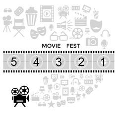 digital black cinema vector image vector image