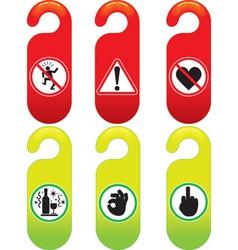 door signs vector image vector image