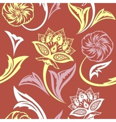 Ethnic Floral Seamless Pattern9 vector image vector image