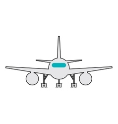 single airplane frontview Icon vector image