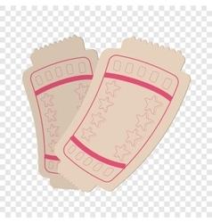Tickets cartoon icon vector image