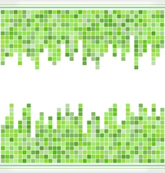 abstract green mosaic square background vector image