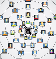 Global social network abstract scheme vector image vector image