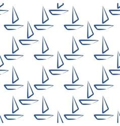 seamless boat isolated vector image