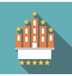 Hotel five stars icon flat style vector image vector image