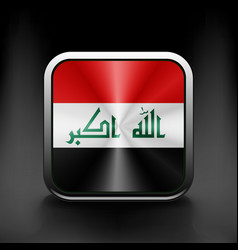 Iraq icon flag national travel icon country symbol vector image