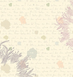Old letter background - paper vector image