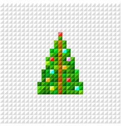 pixel art christmas tree vector image vector image