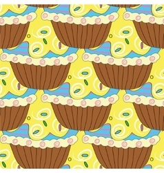 seamless pattern with pastries and cakes vector image vector image