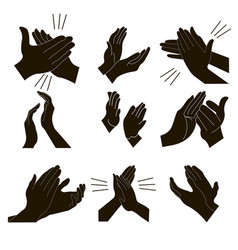 applause set clapping vector image vector image