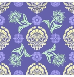 Ethnic Floral Seamless Pattern10 vector image vector image