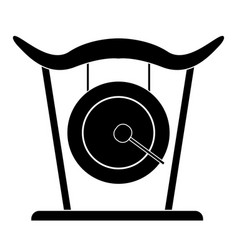 Isolated gong icon musical instrument vector