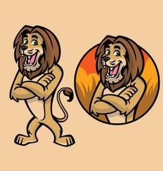 set of cartoon lion character vector image vector image