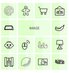 14 image icons vector