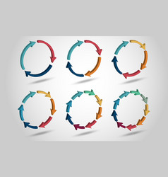 3d circle arrows vector