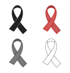 Aids ribbon icon in cartoon style isolated on vector